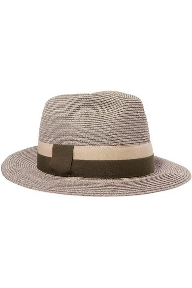 Eres | Leone grosgrain-trimmed woven paper hat | NET-A-PORTER.COM