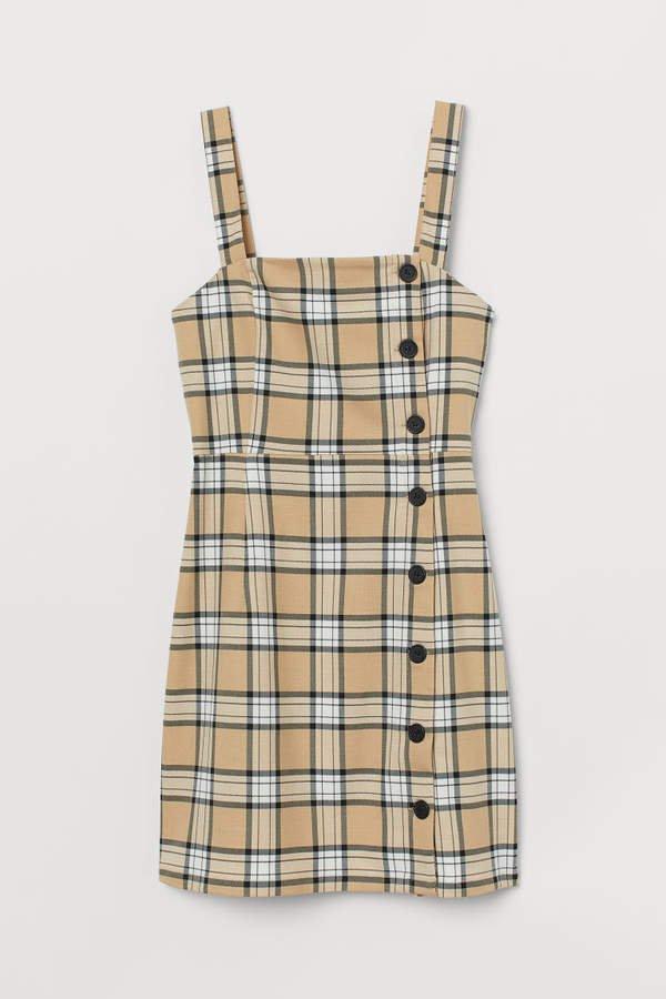 Short Dress - Beige