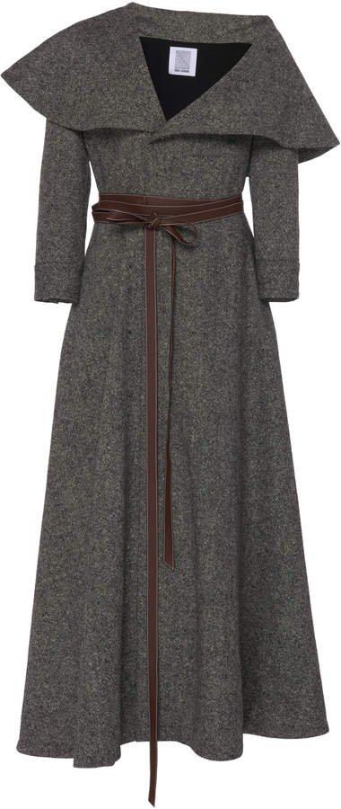 October Belted Virgin Wool Dress