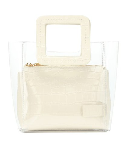 Mini Shirley embossed leather tote
