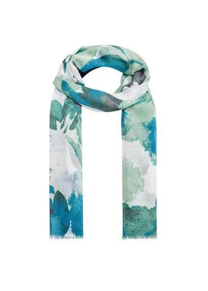 Violeta BY MANGO Fringes printed scarf