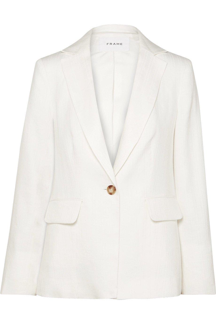 FRAME | Classic Fine linen-blend blazer | NET-A-PORTER.COM