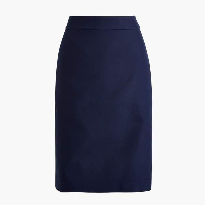 Cotton work pencil skirt
