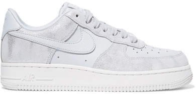 Air Force 1 07 Metallic Suede And Leather Sneakers - White
