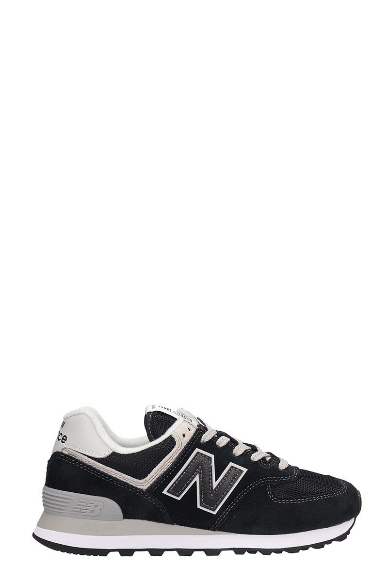 New Balance Suede And Canvas Black 574 Sneakers
