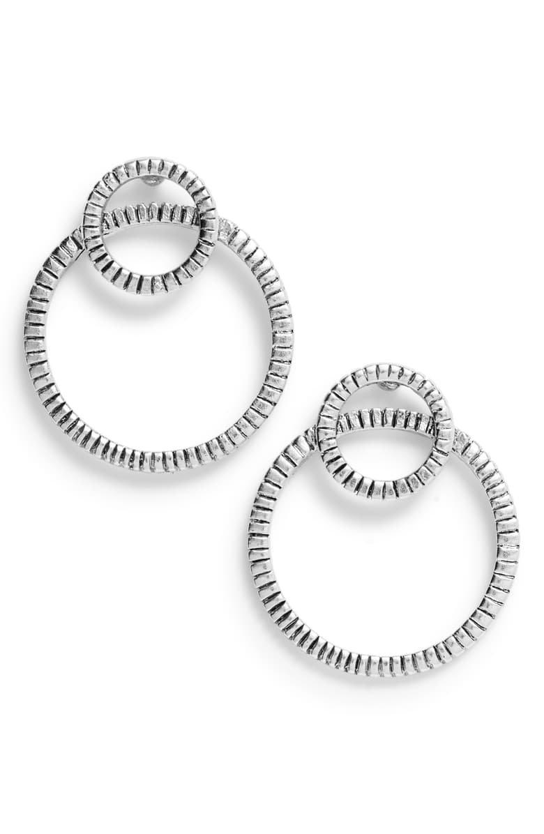 Karine Sultan Double Hoop Earrings | Nordstrom