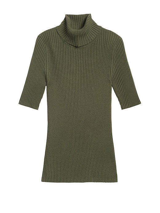 Fitted Turtleneck Sweater Top | Banana Republic