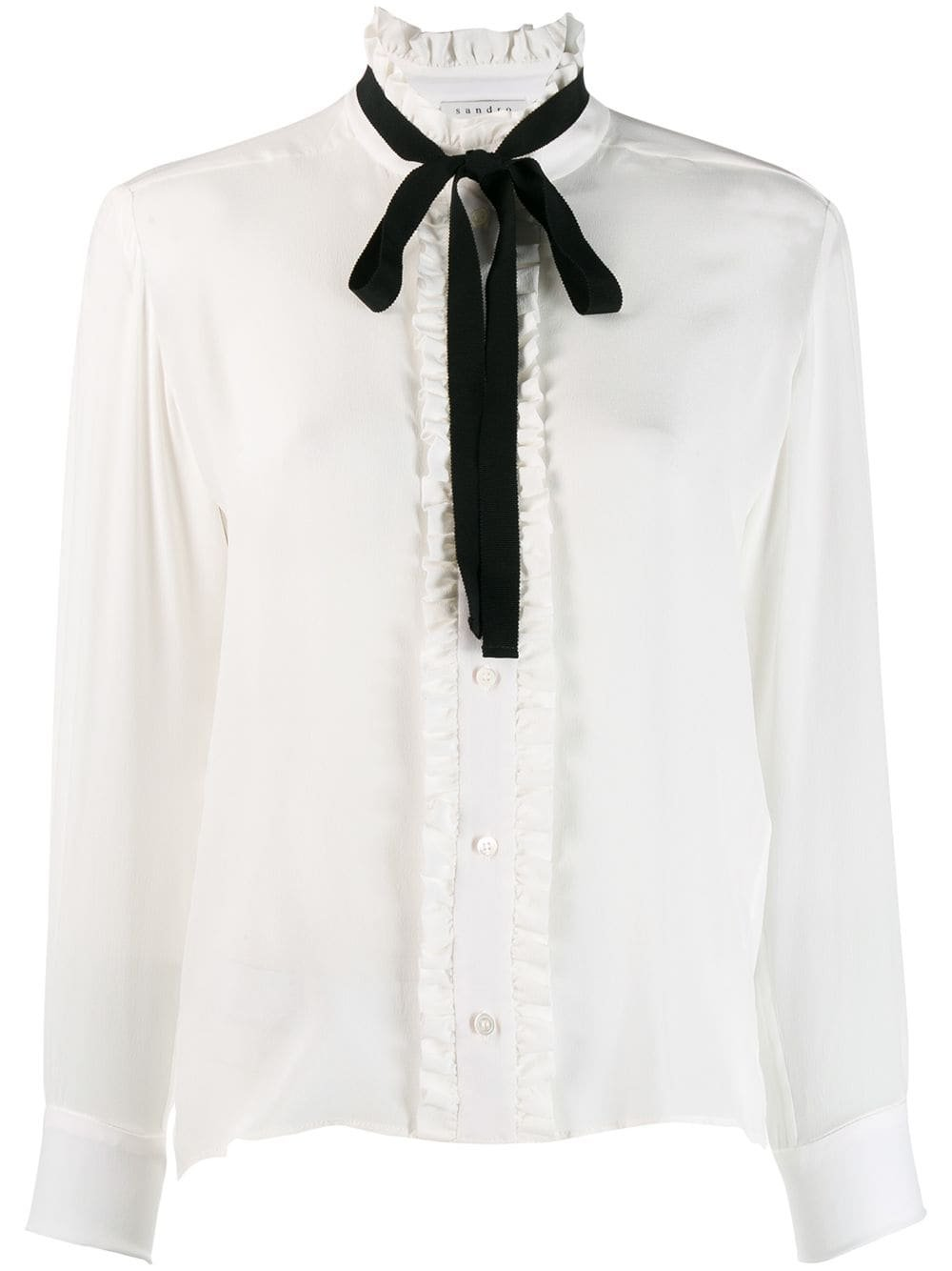 Sandro Paris long-sleeved bow blouse $340 - Buy Online - Mobile Friendly, Fast Delivery, Price