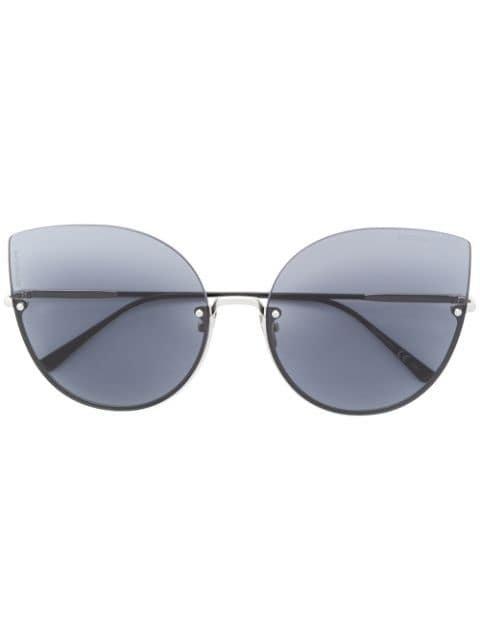 Bottega Veneta Eyewear Intrecciato cat eye sunglasses $359 - Buy AW18 Online - Fast Global Delivery, Price