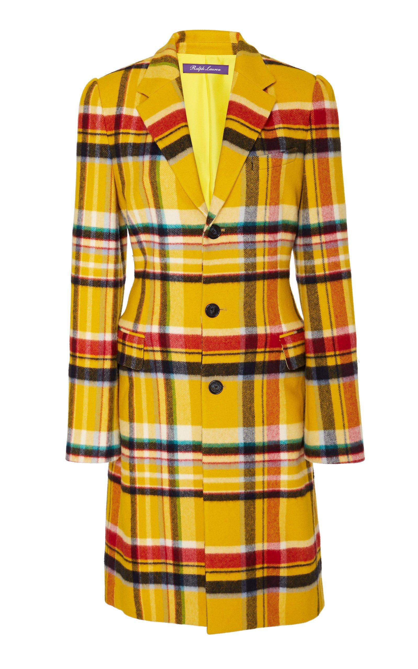 Ralph Lauren Leora Wool-Blend Plaid Coat