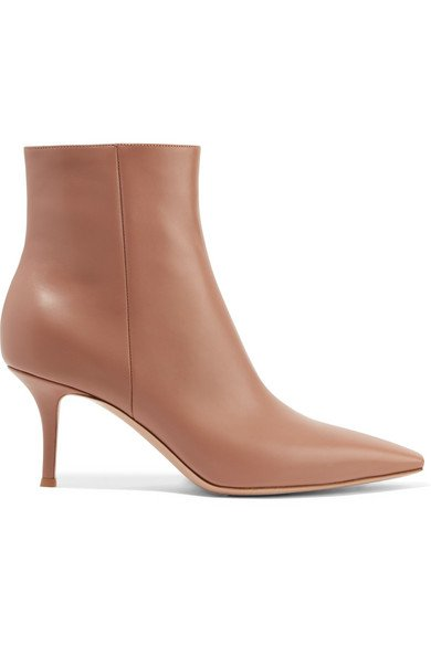 Gianvito Rossi | 70 leather ankle boots | NET-A-PORTER.COM