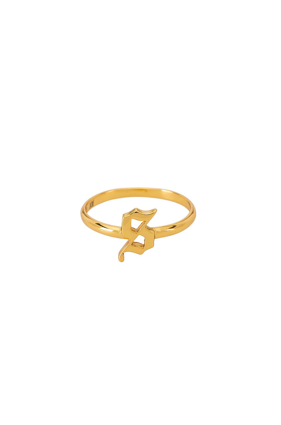 The Gothic Letter S Ring