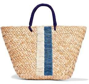 Taylor Embroidered Woven Straw Tote