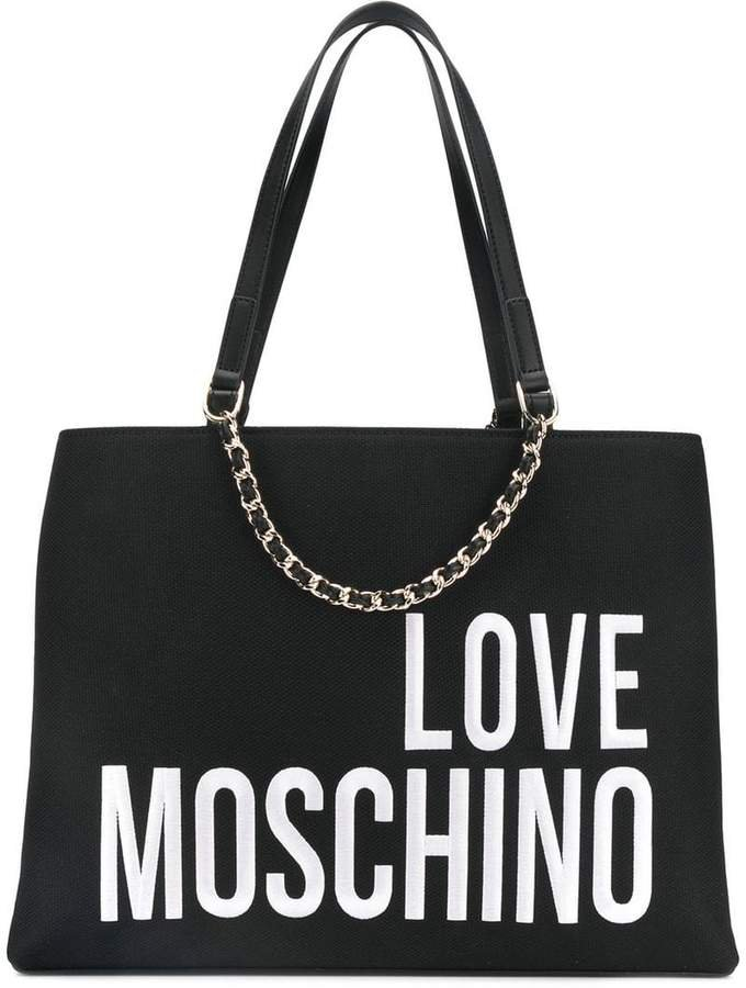 logo embroidered tote