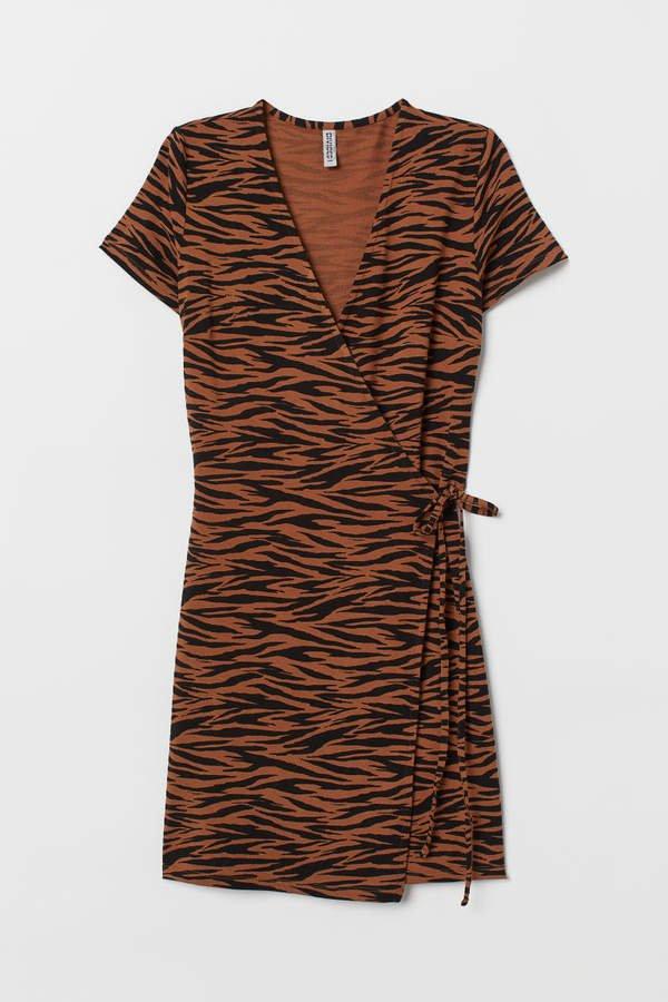 Short Wrap Dress - Beige