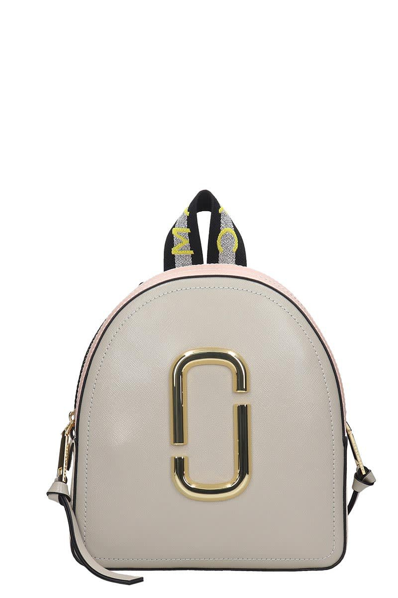 Marc Jacobs Pack Shot Backpack In Grey Leather