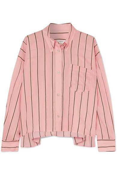 Isabel Marant Étoile | Ycao oversized striped cotton-blend shirt | NET-A-PORTER.COM