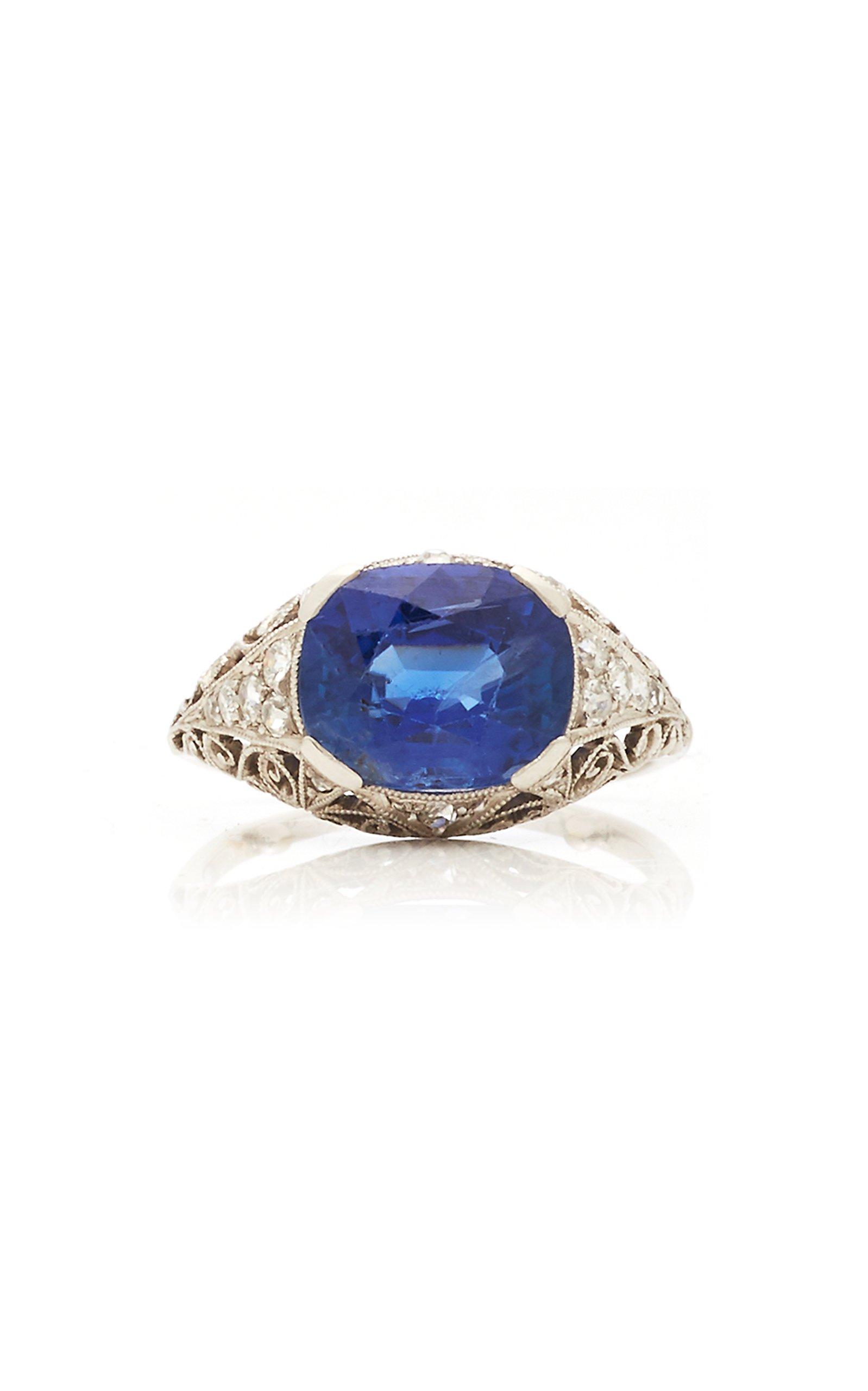 Eleuteri Diamond and Blue Enamel Ring