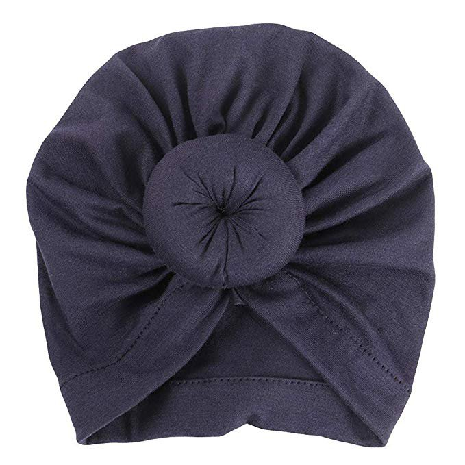 Amazon.com: Sunbona Newborn Hat,Toddler Baby Cotton Turban Knotted Hat India Hat Soft Cap for New Mother (Black): Clothing