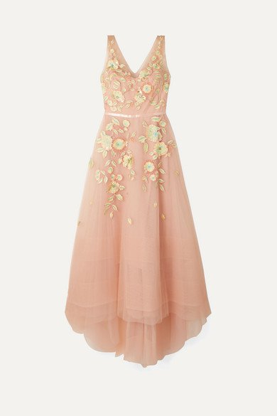 Marchesa Notte | Embellished embroidered tulle gown | NET-A-PORTER.COM