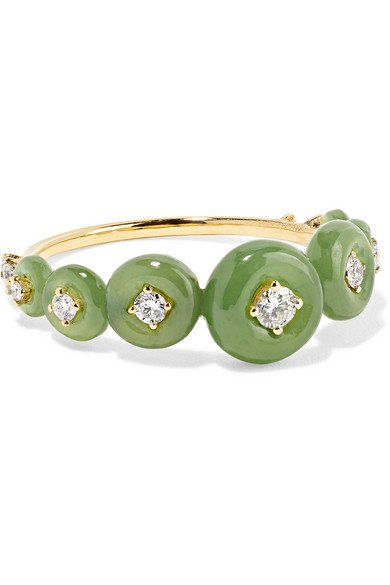Fernando Jorge   Surround 18-karat gold, nephrite jade and diamond ring   NET-A-PORTER.COM