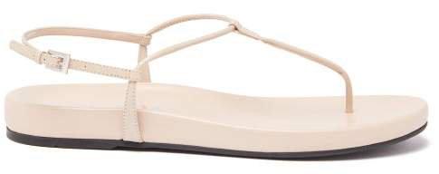 Slim Strap Leather Sandal - Womens - Nude