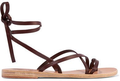 Morfi Leather Sandals - Brown