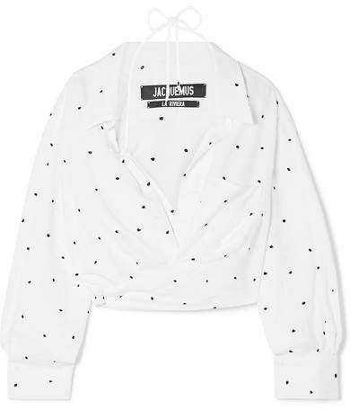 Siena Embroidered Woven Blouse - White
