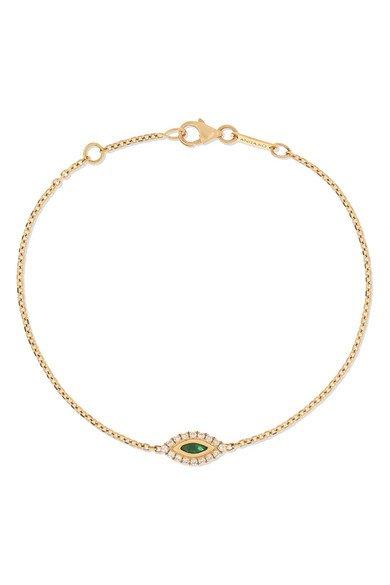 Anita Ko | 18-karat gold, emerald and diamond bracelet | NET-A-PORTER.COM
