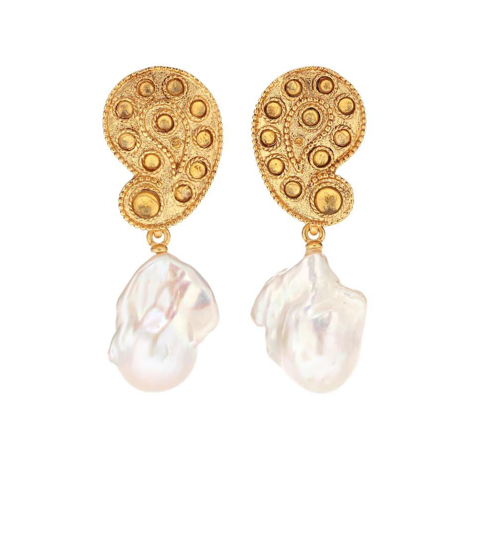 Baroque Pearl Clip-On Earrings - Oscar de la Renta | Mytheresa