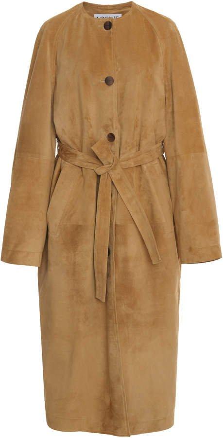 Loewe Belted Suede Coat Size: 34