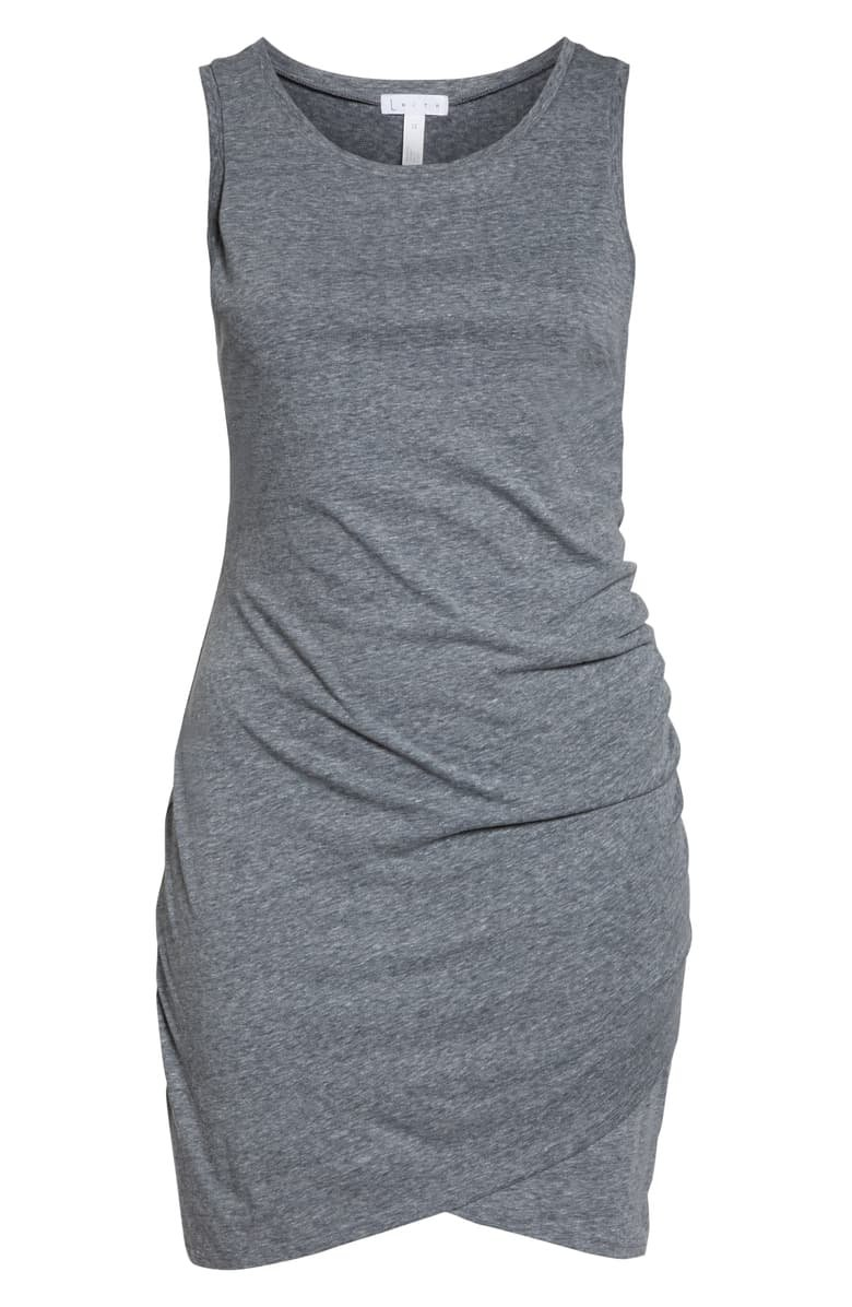 Leith Ruched Sheath Dress (Plus Size) Grey