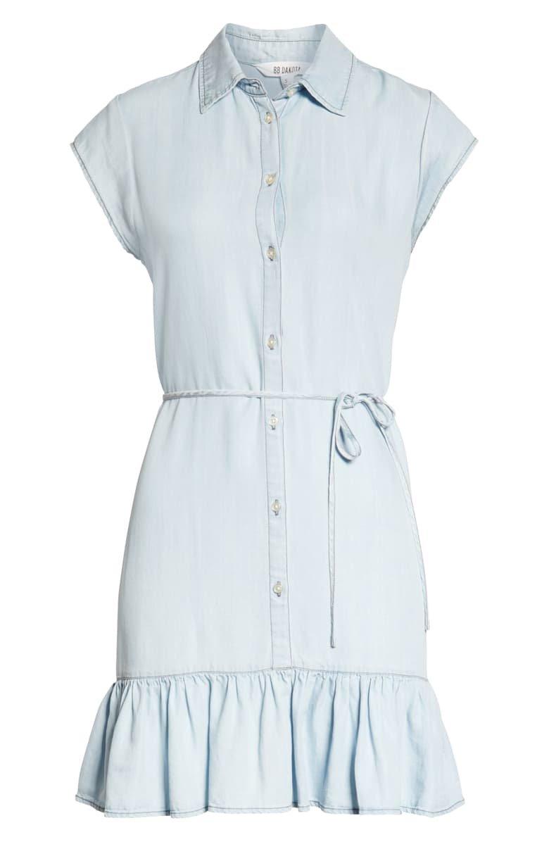 BB Dakota Sway Chambray Shirtdress blue