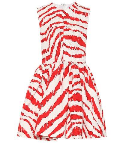 Jacquard cotton-blend minidress