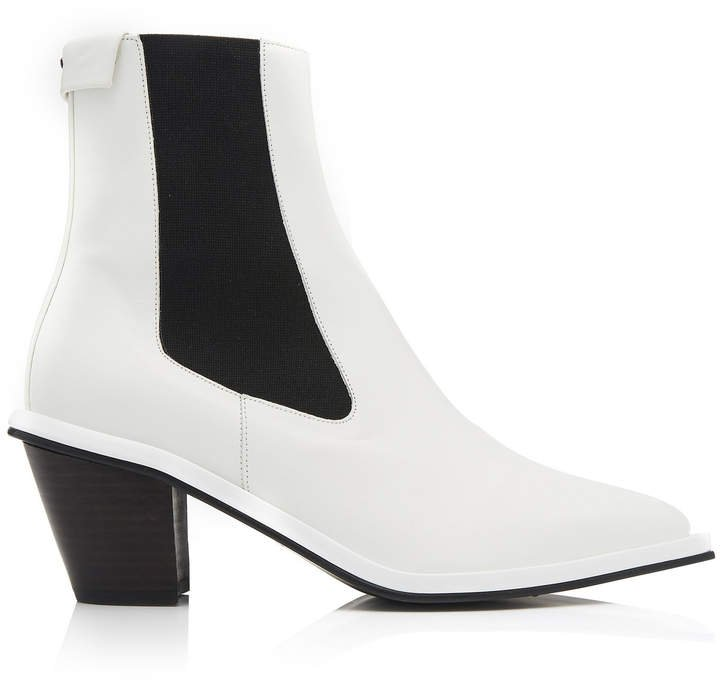 Contrast Leather Chelsea Boot