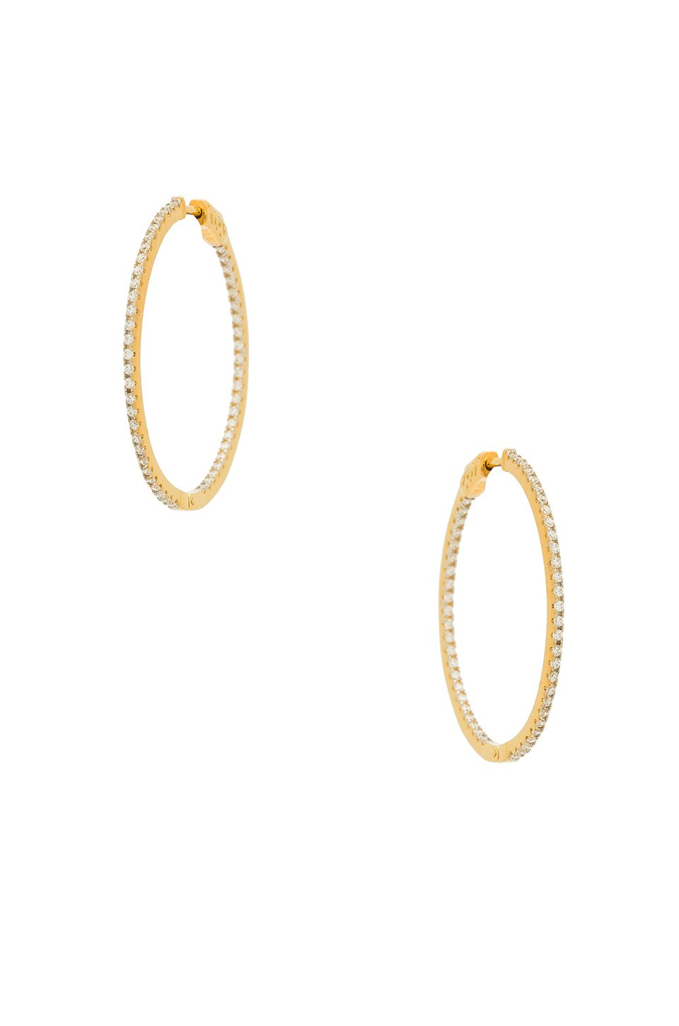 The Thin Pave Hoops