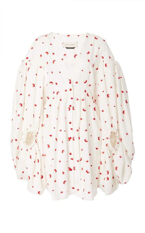 Sonia Printed Silk-Effect Bubble Dress