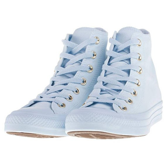 Baby Blue High Top Converse