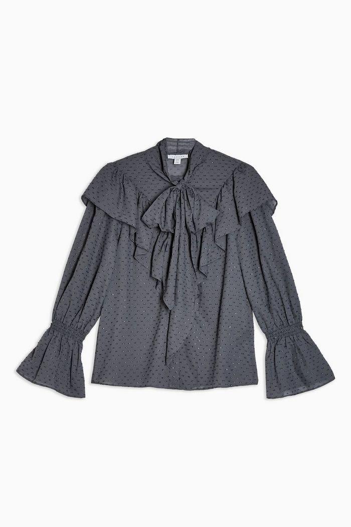 IDOL Tie Ruffle Blouse | Topshop