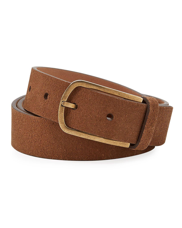 Brunello Cucinelli Textured Leather Belt