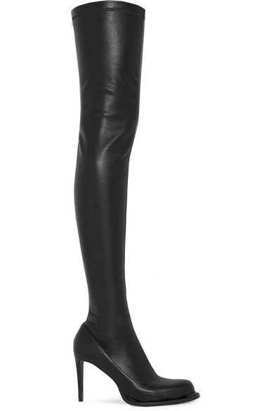 Stella McCartney | Faux stretch-leather thigh boots | NET-A-PORTER.COM