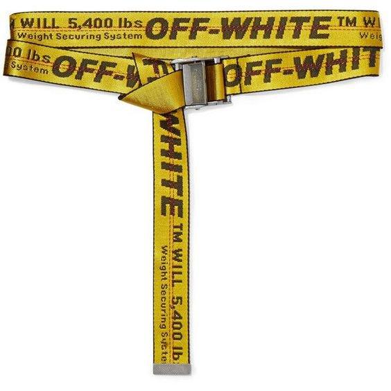 Off-White Canvas Belt