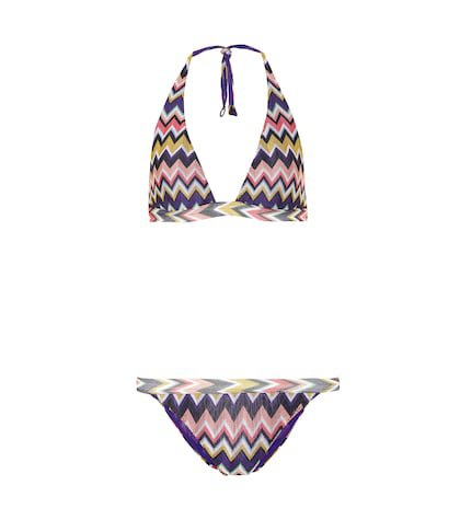 Crochet halterneck bikini