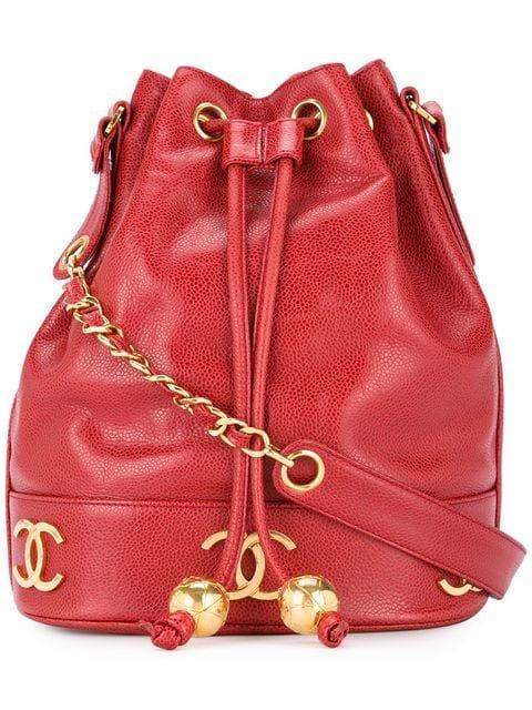Chanel Vintage Bolsa De Hombro Con Logo y Cordones - Farfetch