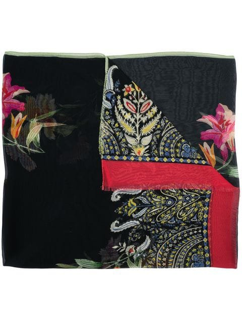 Etro Floral And Paisley Print Scarf