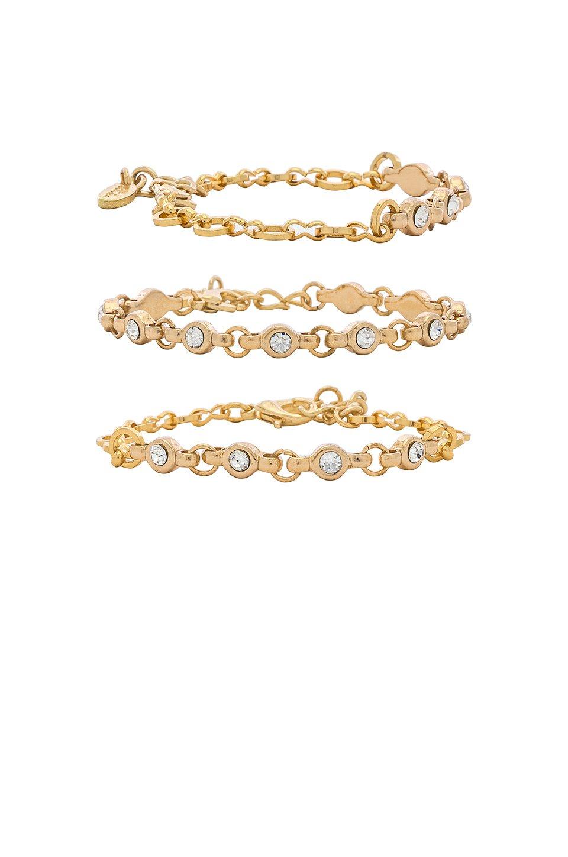 Rhinestone Chain Bracelet Set
