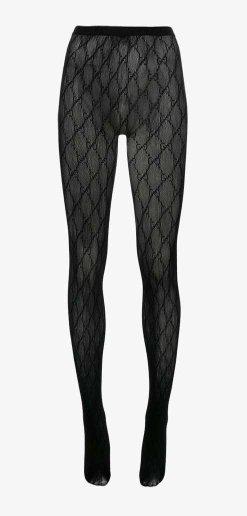 Gucci black monogram tights