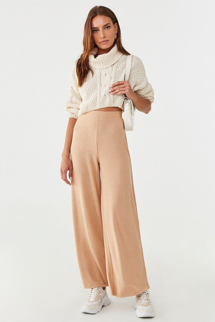 Wide-Leg Fleece Sweatpants | Forever 21
