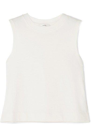 Vince | Cropped cotton-jersey tank | NET-A-PORTER.COM