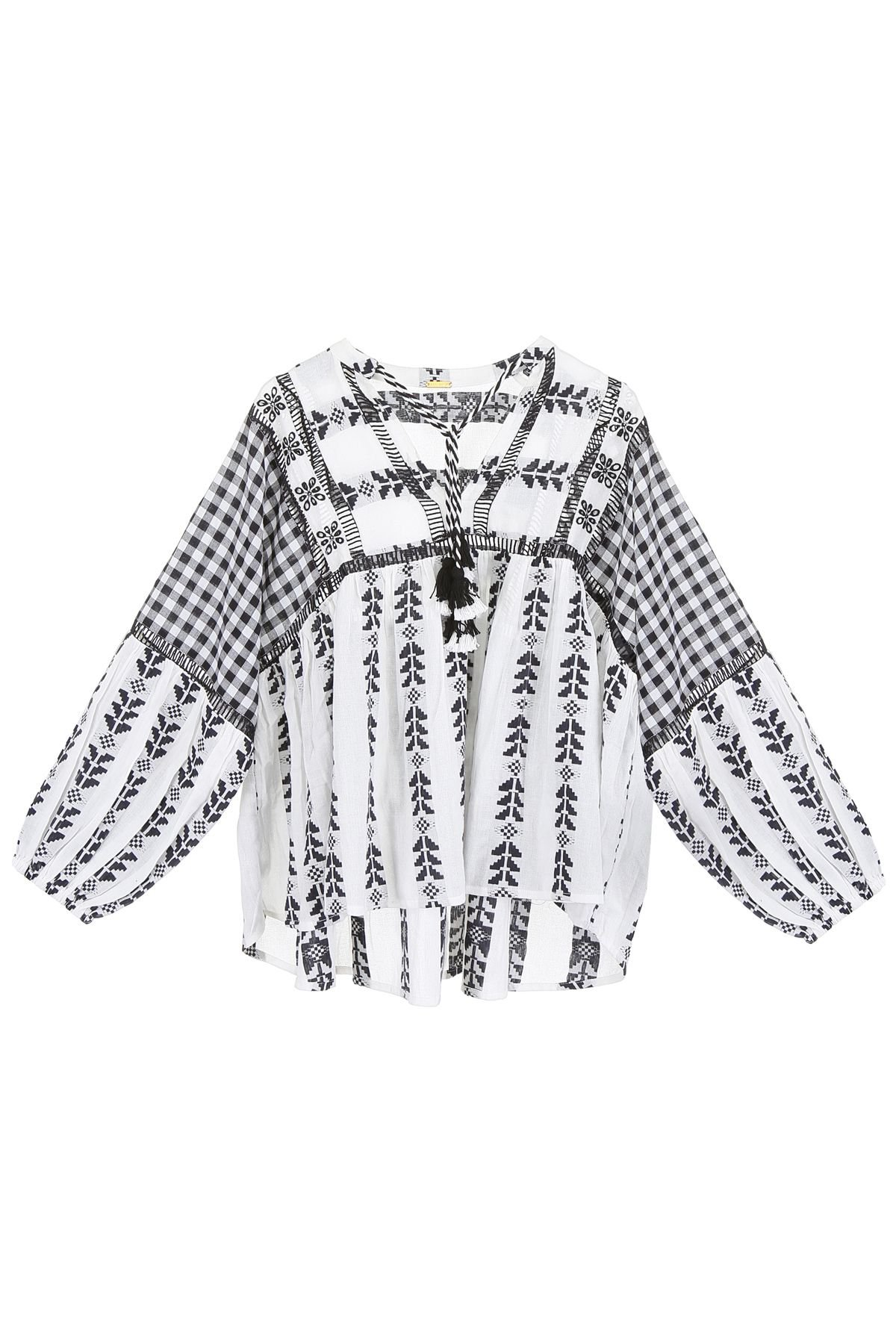 Dodo Bar Or Embroidered Miguel Blouse